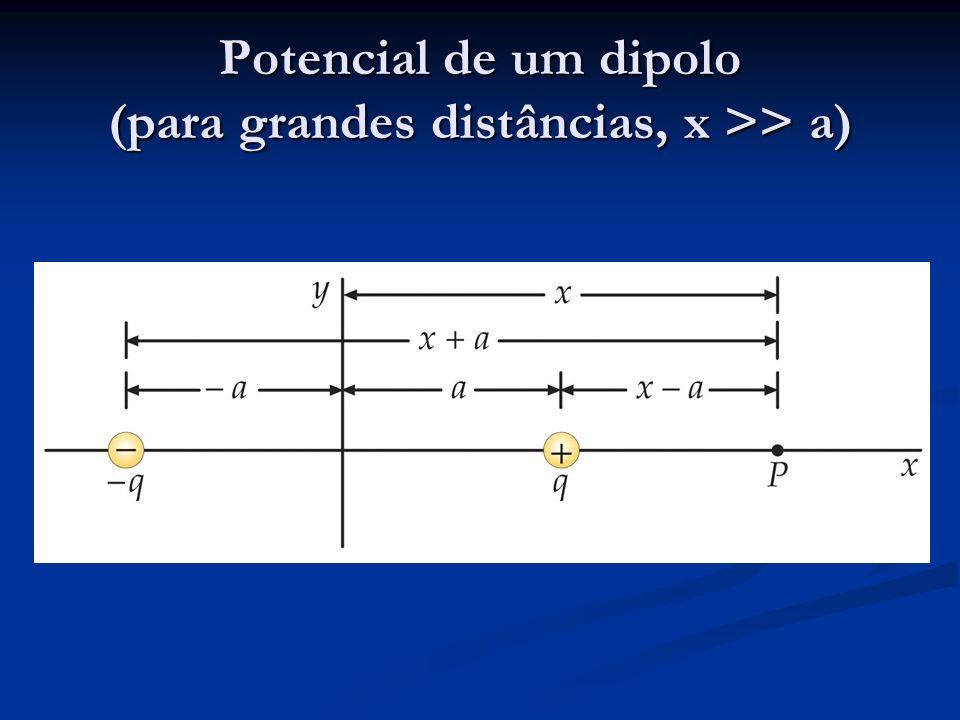 Potencial de um dipolo (para grandes distâncias, x >> a)