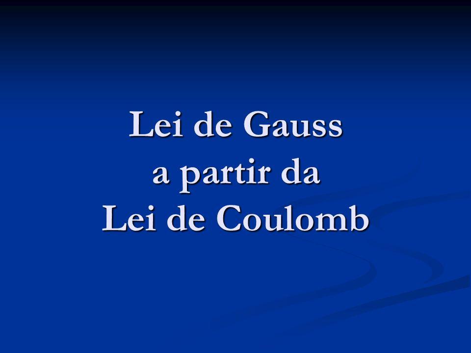 Lei de Gauss a partir da Lei de Coulomb