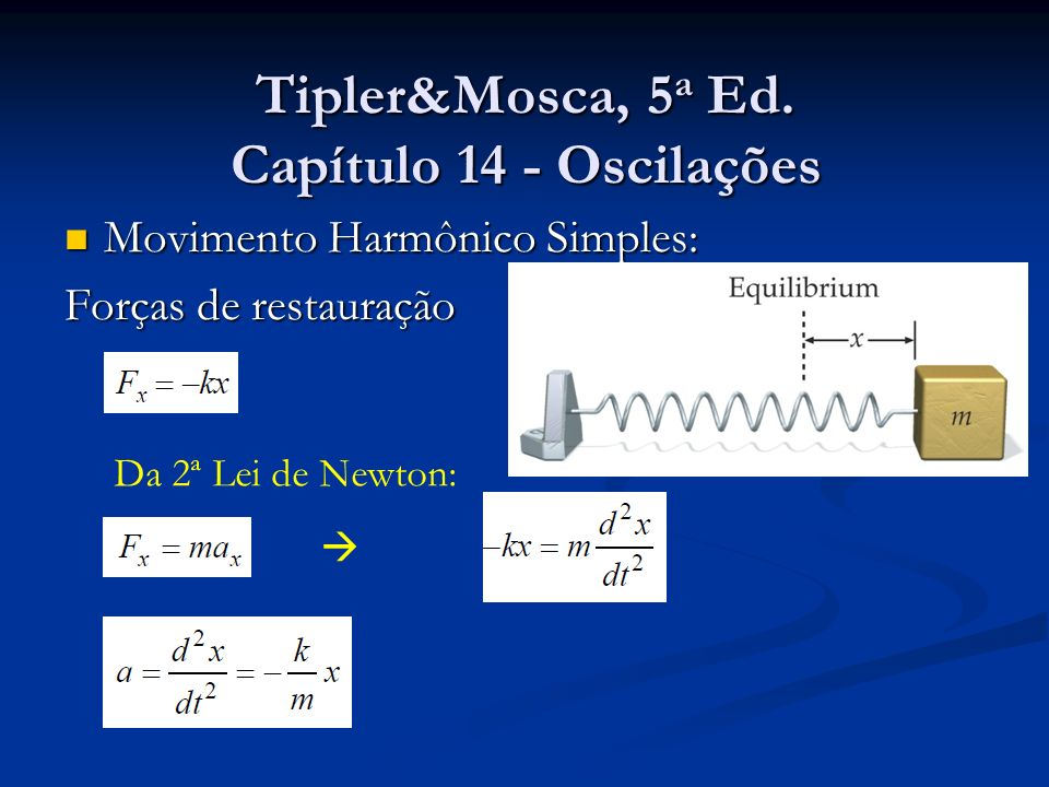 Tipler&Mosca, 5a Ed. Capítulo 14 - Oscilações