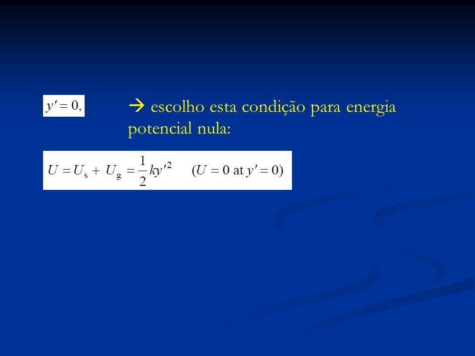  escolho esta condição para energia potencial nula: