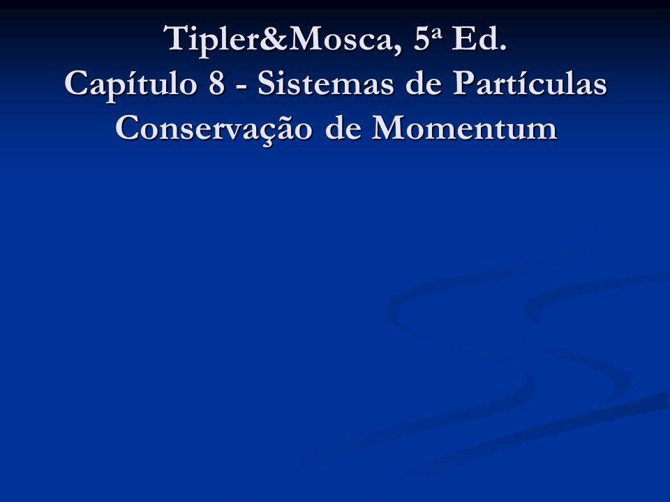 Tipler&Mosca, 5a Ed. Capítulo 8 - Sistemas de Partículas Conservação de Momentum