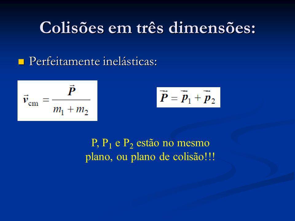 Colisões em três dimensões: