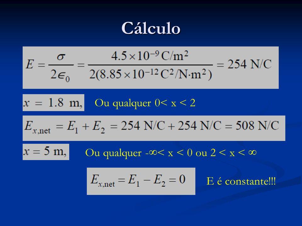 Cálculo Ou qualquer 0< x < 2