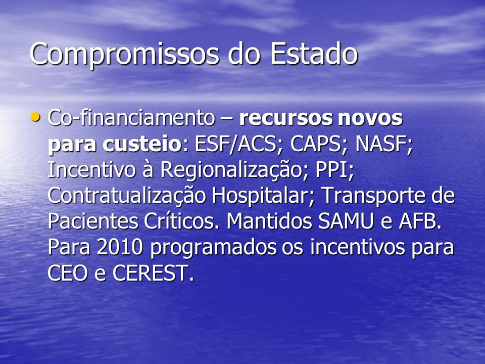 Compromissos do Estado