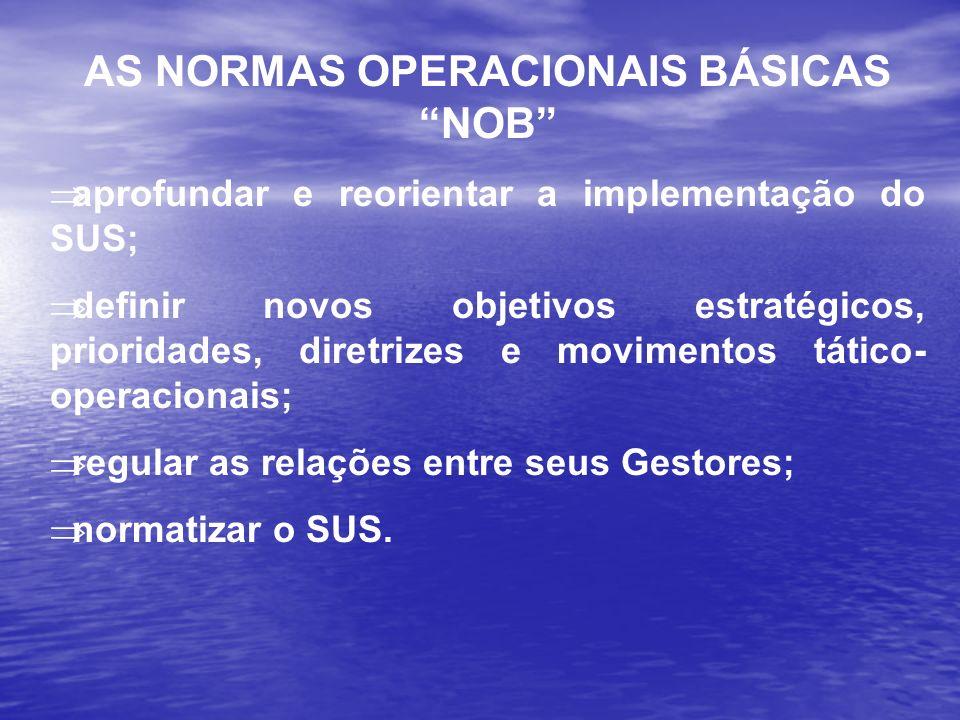 AS NORMAS OPERACIONAIS BÁSICAS NOB