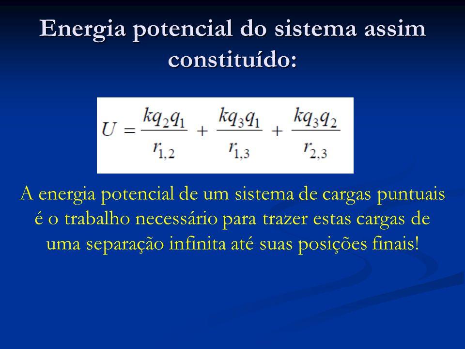 Energia potencial do sistema assim constituído:
