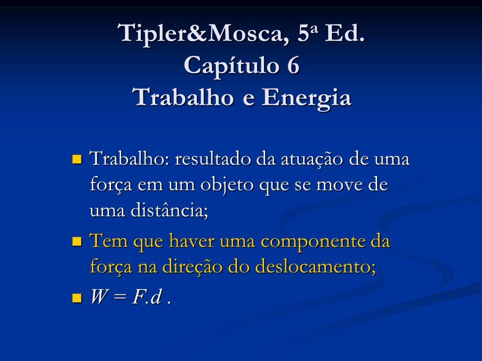 Tipler&Mosca, 5a Ed. Capítulo 6 Trabalho e Energia