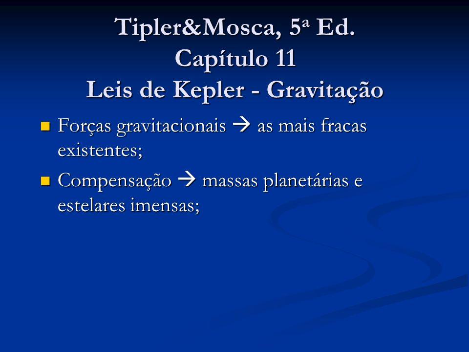 Tipler&Mosca, 5a Ed. Capítulo 11 Leis de Kepler - Gravitação