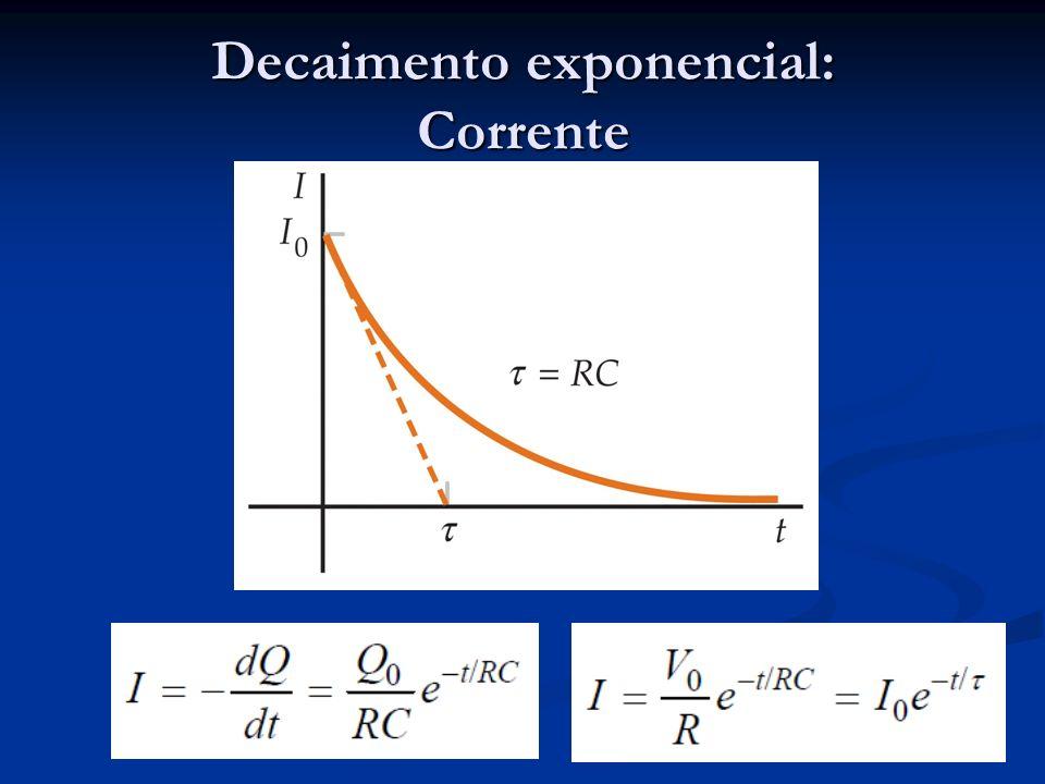 Decaimento exponencial: Corrente