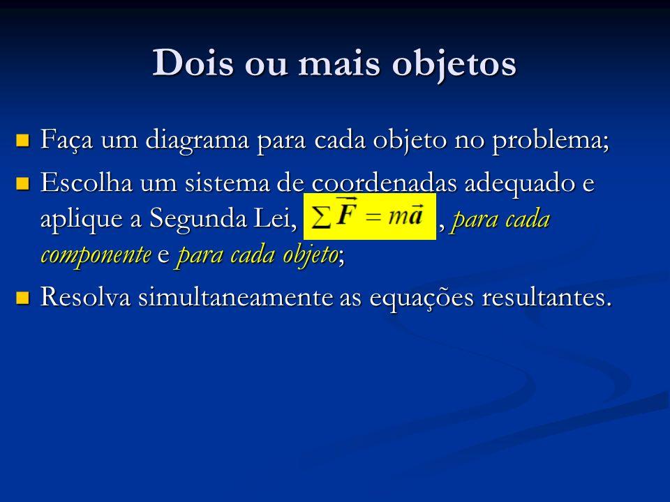 Dois ou mais objetos Faça um diagrama para cada objeto no problema;