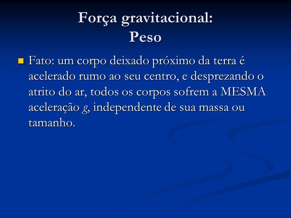 Força gravitacional: Peso