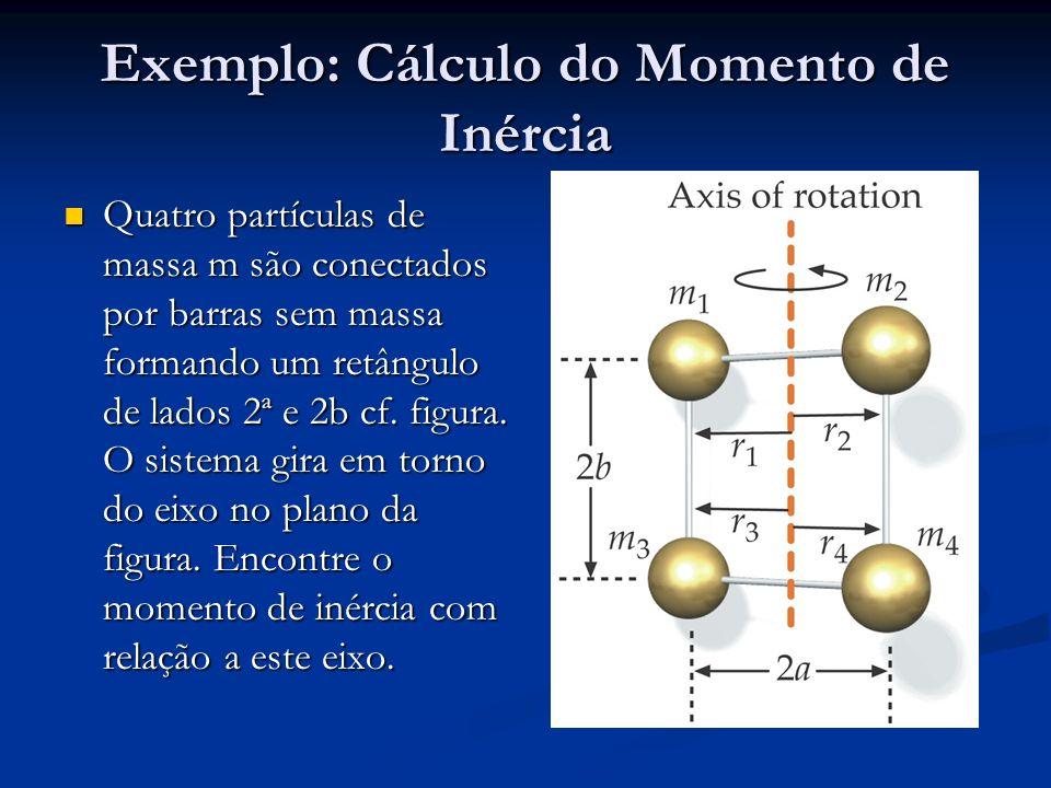 Exemplo: Cálculo do Momento de Inércia