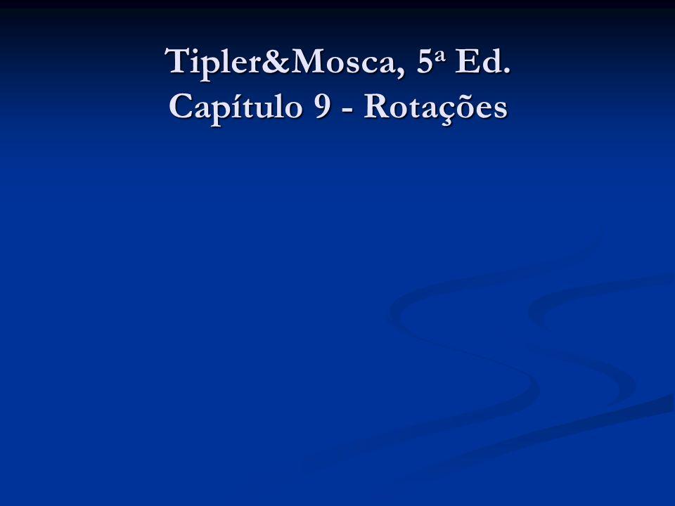 Tipler&Mosca, 5a Ed. Capítulo 9 - Rotações