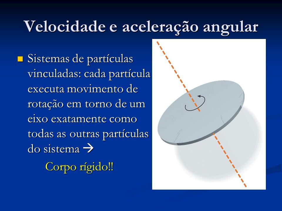 Velocidade e aceleração angular