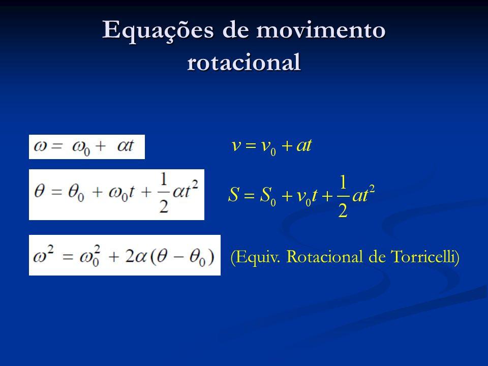 Equações de movimento rotacional