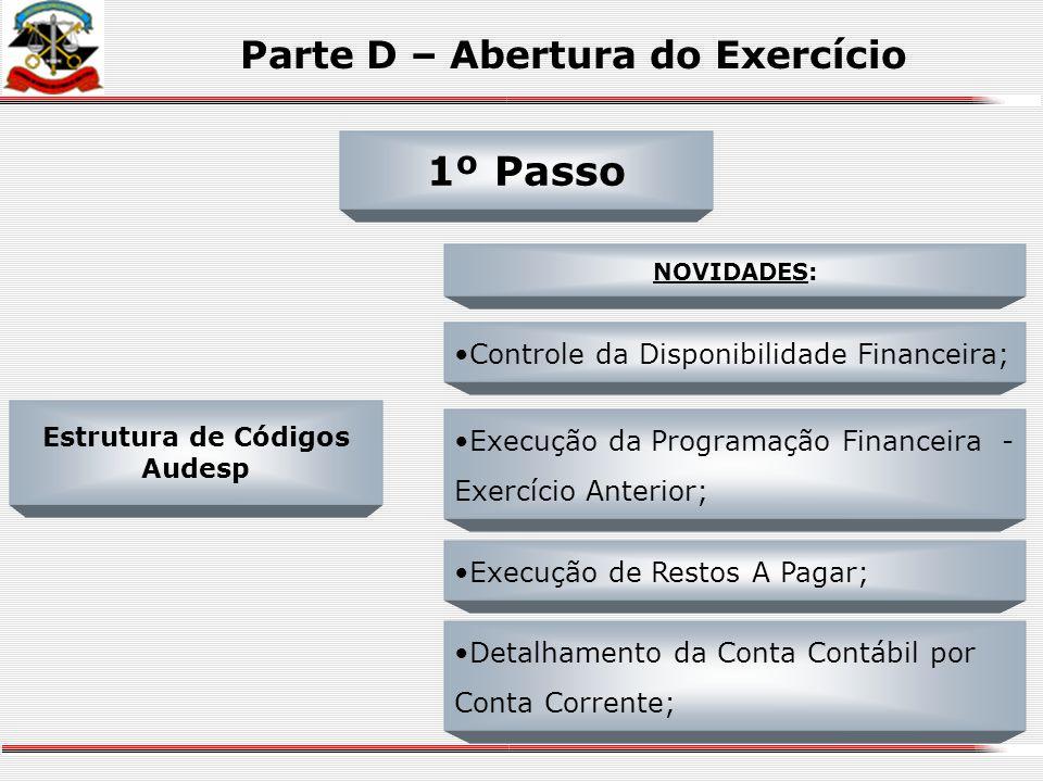 Parte D – Abertura do Exercício