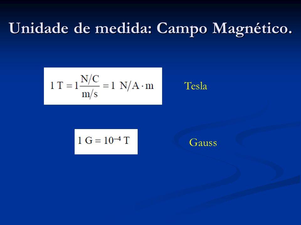 Unidade de medida: Campo Magnético.