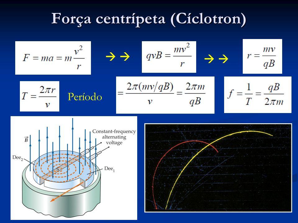 Força centrípeta (Cíclotron)