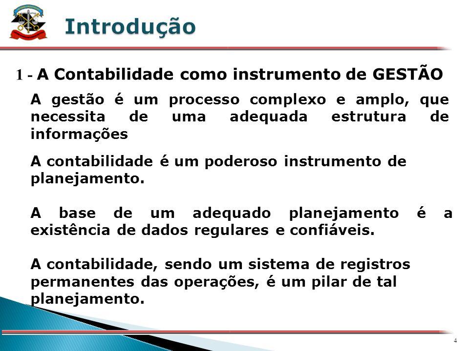 Introdução 1 - A Contabilidade como instrumento de GESTÃO