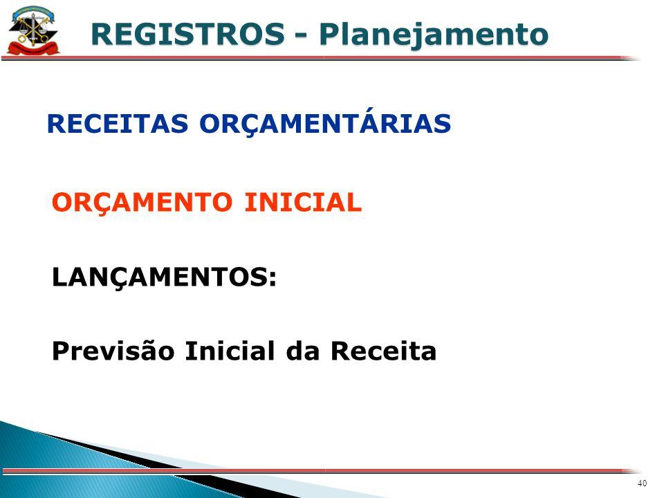 REGISTROS - Planejamento