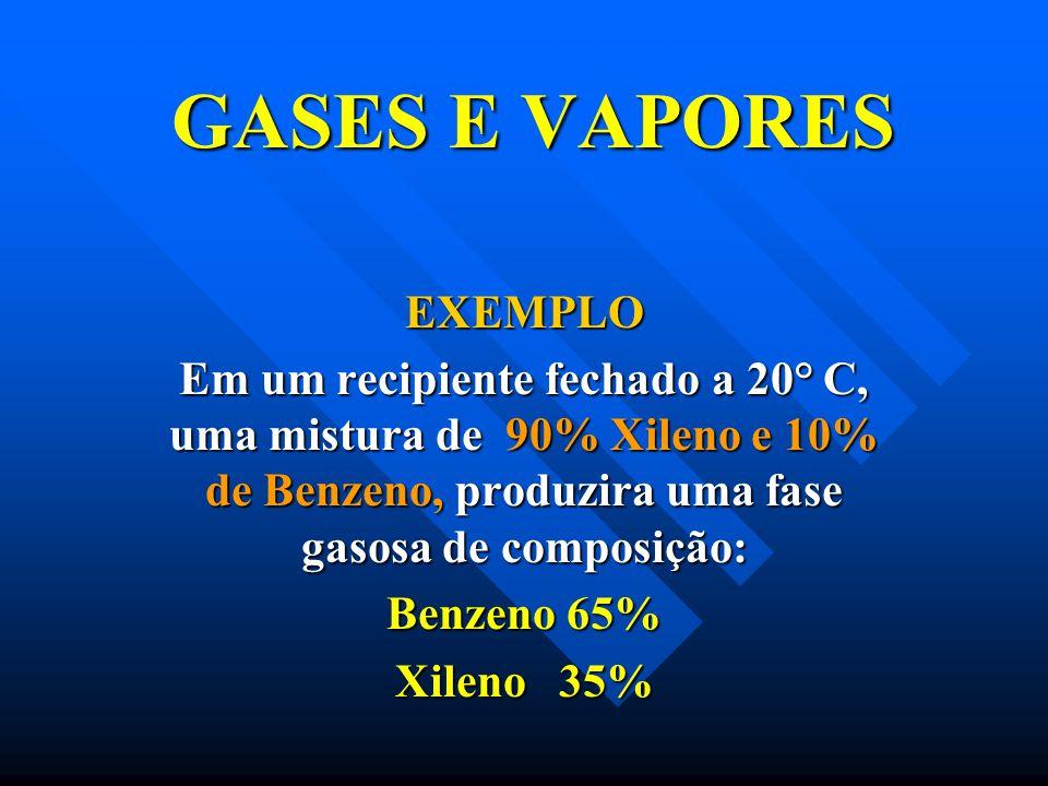 GASES E VAPORES EXEMPLO