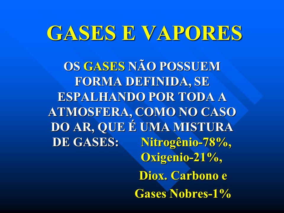 GASES E VAPORES