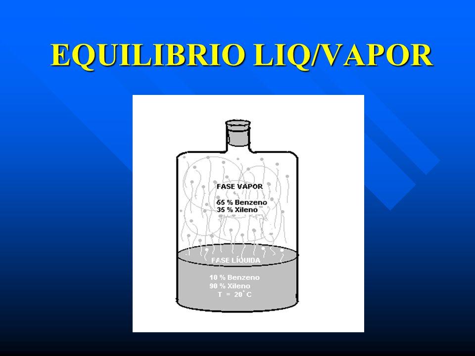 EQUILIBRIO LIQ/VAPOR