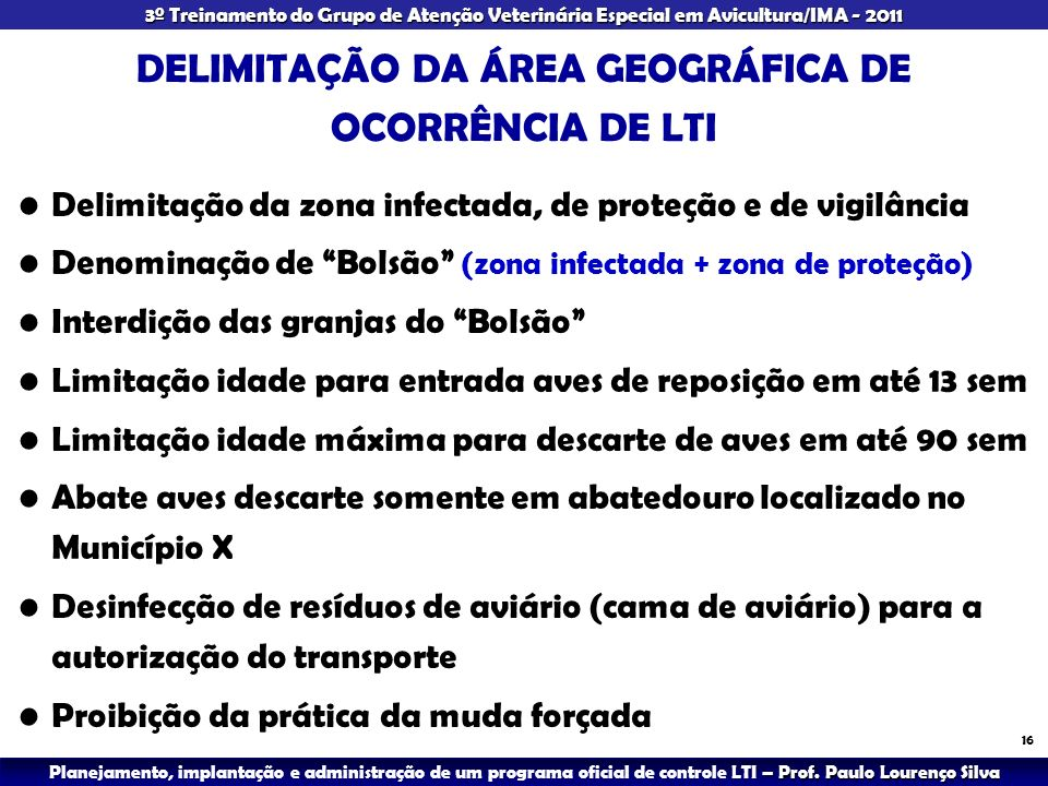 DELIMITAÇÃO DA ÁREA GEOGRÁFICA DE OCORRÊNCIA DE LTI