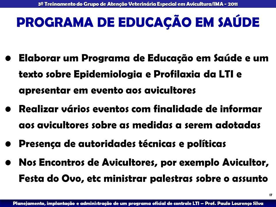 PROGRAMA DE EDUCAÇÃO EM SAÚDE