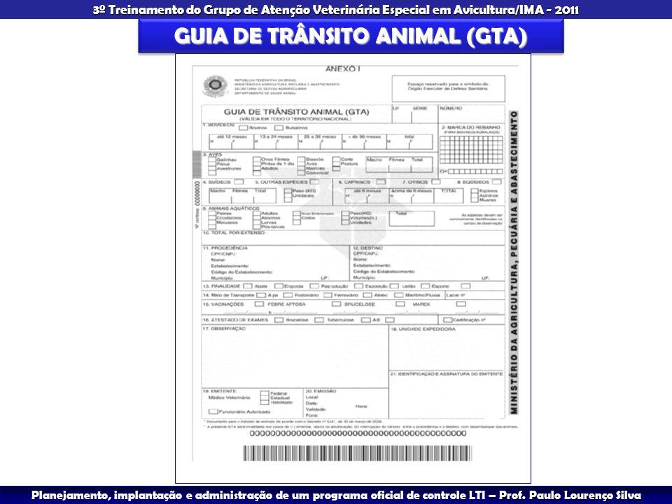 GUIA DE TRÂNSITO ANIMAL (GTA)