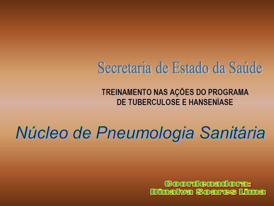 TREINAMENTO NAS AÇÕES DO PROGRAMA DE TUBERCULOSE E HANSENÍASE