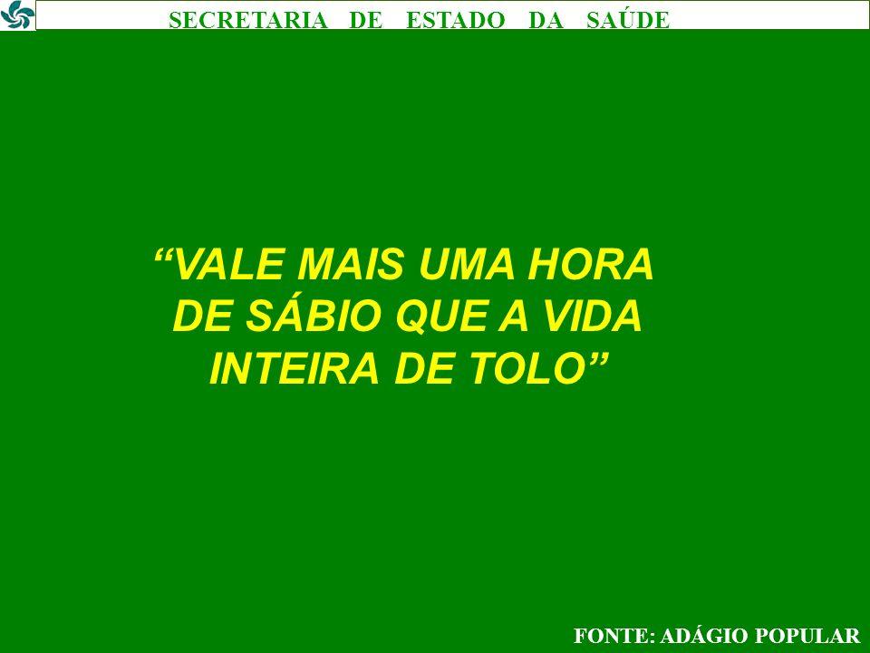 VALE MAIS UMA HORA DE SÁBIO QUE A VIDA INTEIRA DE TOLO