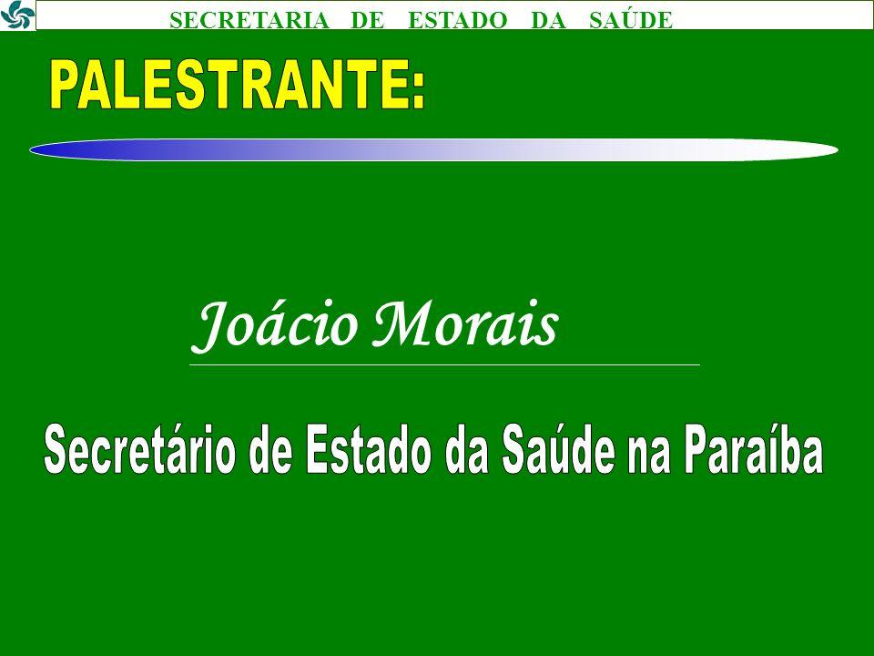 Secretário de Estado da Saúde na Paraíba