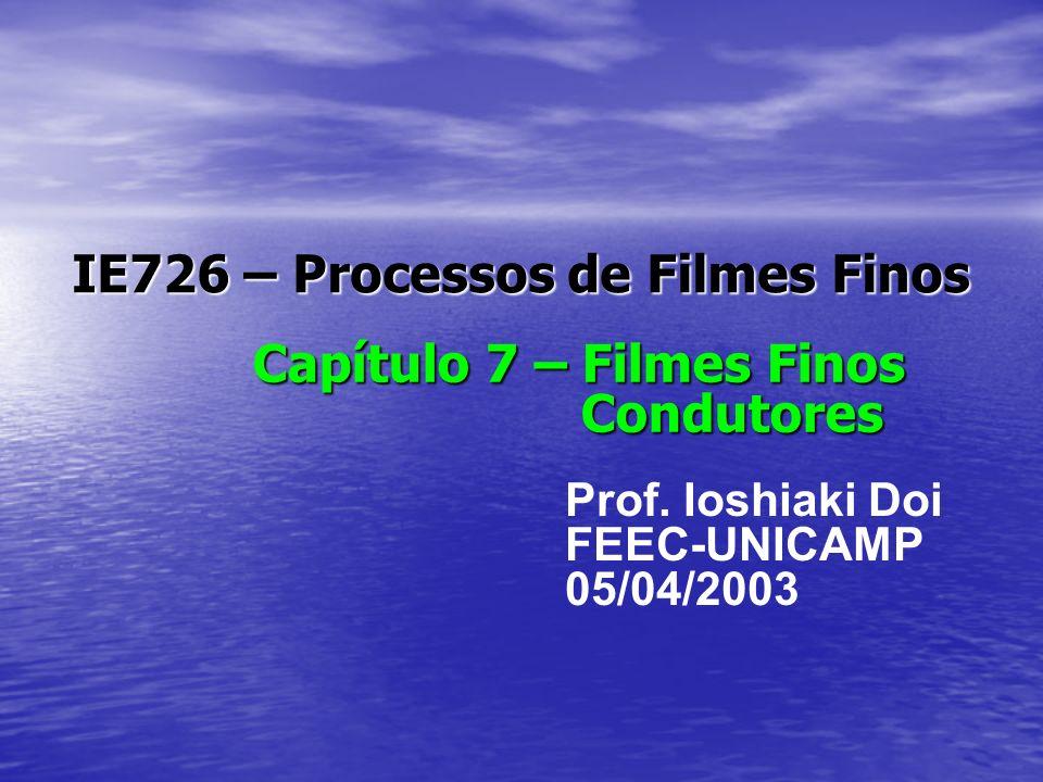 IE726 – Processos de Filmes Finos