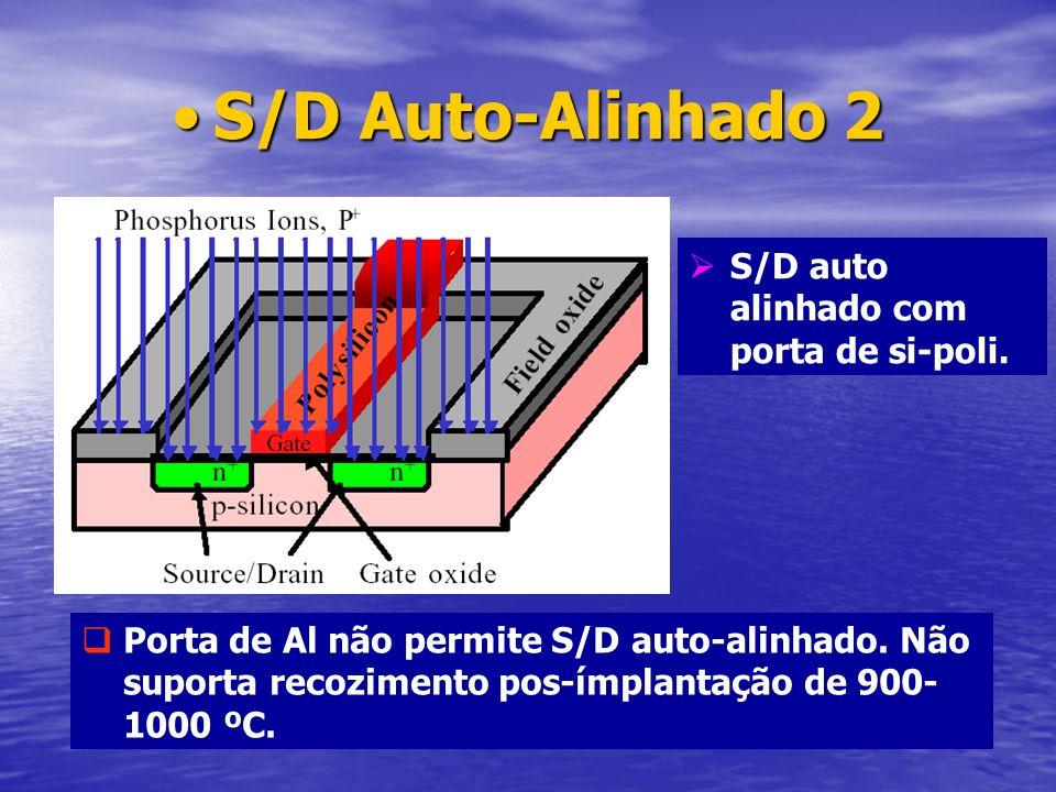 S/D Auto-Alinhado 2 S/D auto alinhado com porta de si-poli.