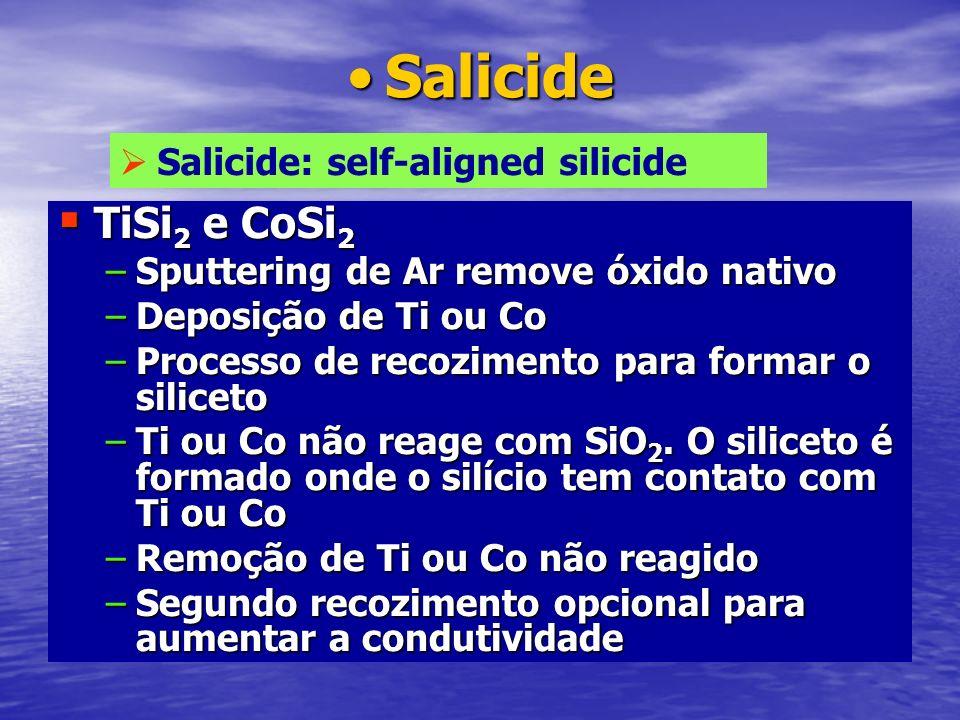 Salicide TiSi2 e CoSi2 Salicide: self-aligned silicide