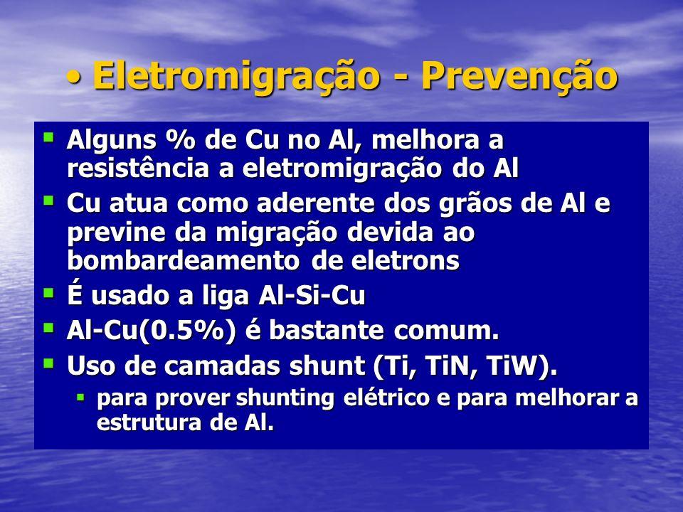 Eletromigração - Prevenção