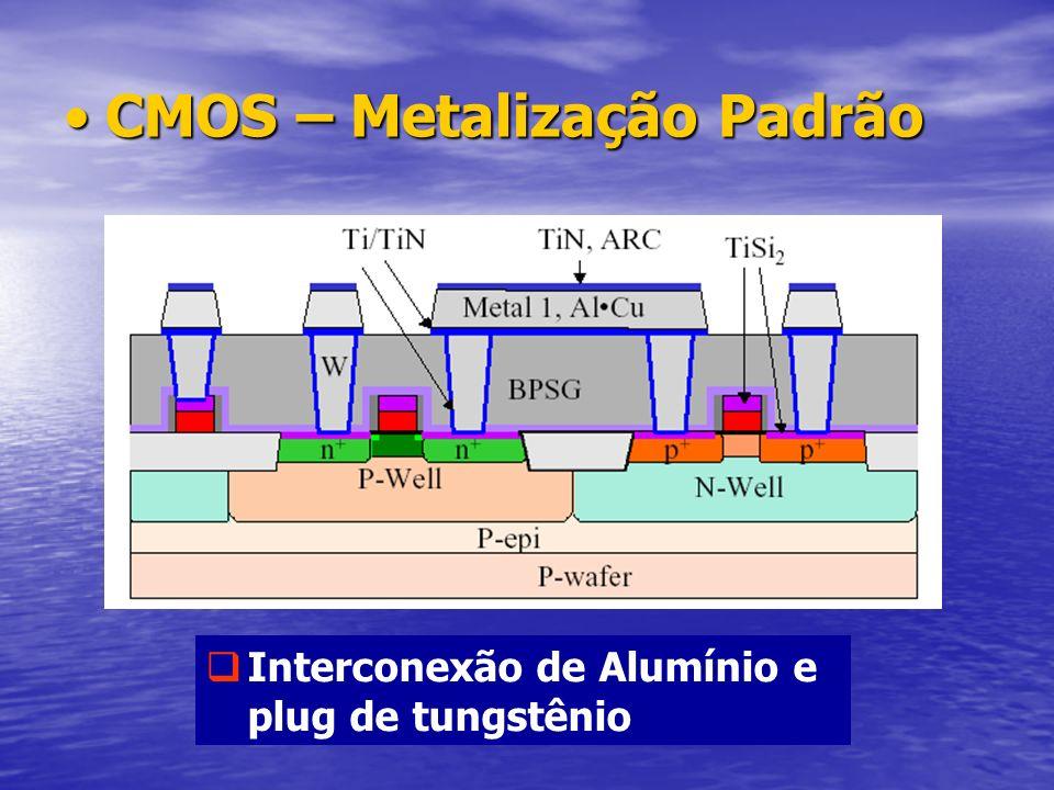 CMOS – Metalização Padrão