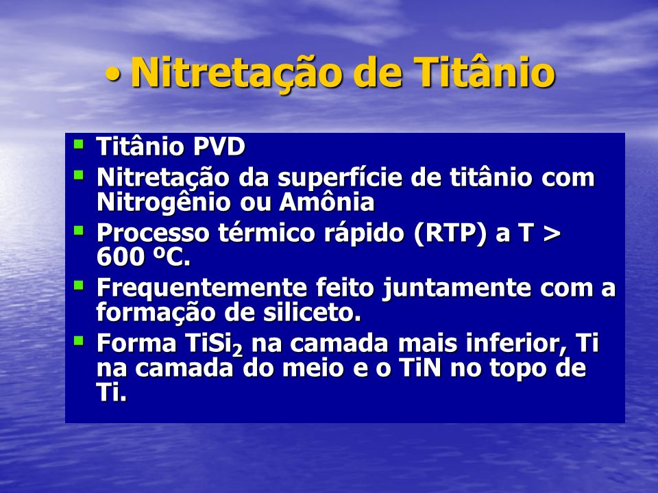 Nitretação de Titânio Titânio PVD