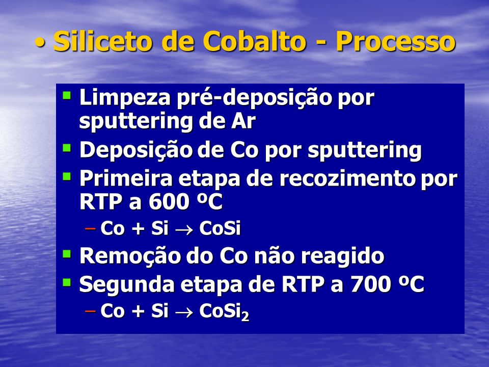 Siliceto de Cobalto - Processo