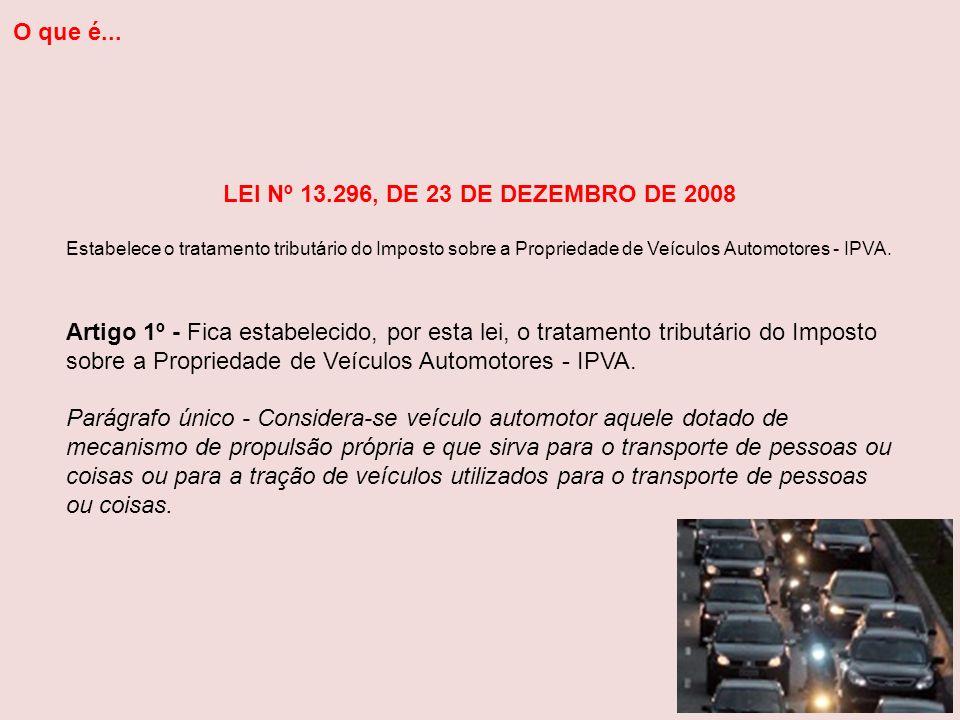 O que é... LEI Nº 13.296, DE 23 DE DEZEMBRO DE 2008