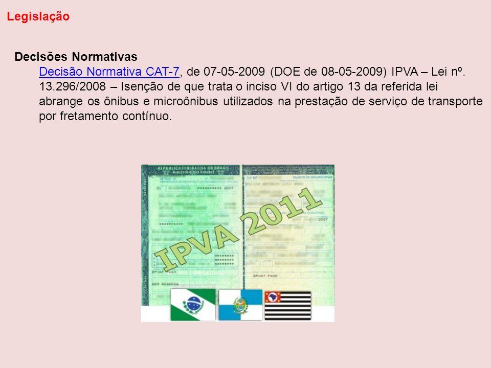 Legislação Decisões Normativas.