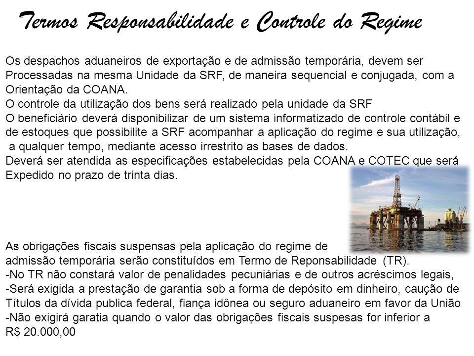 Termos Responsabilidade e Controle do Regime