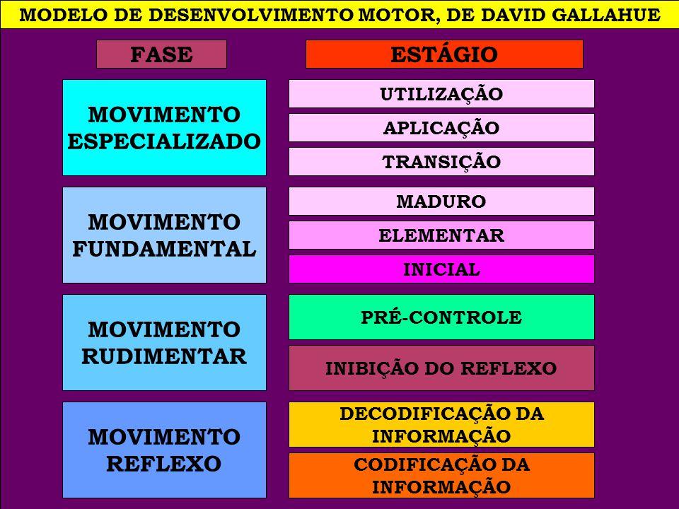 MODELO DE DESENVOLVIMENTO MOTOR, DE DAVID GALLAHUE