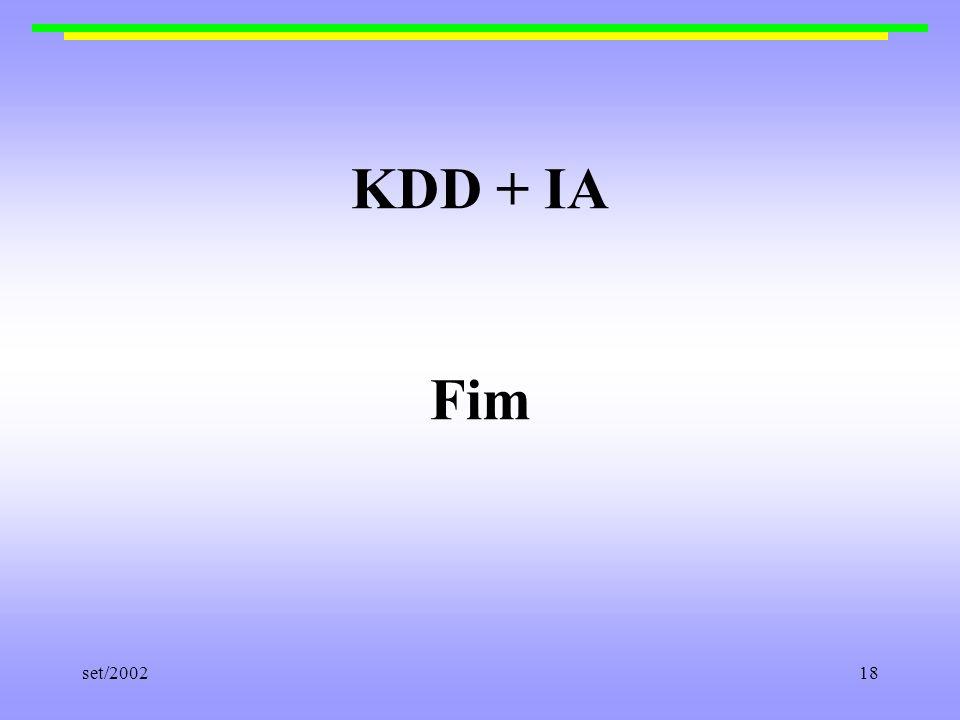 KDD + IA Fim set/2002