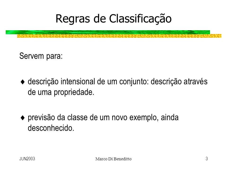 Regras de Classificação