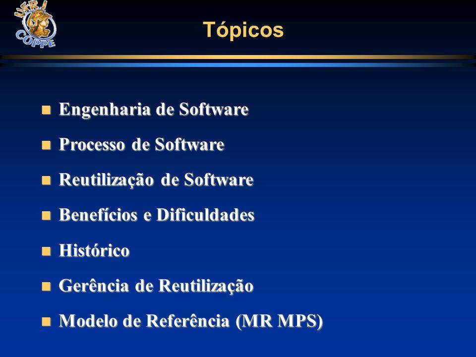 Tópicos Engenharia de Software Processo de Software