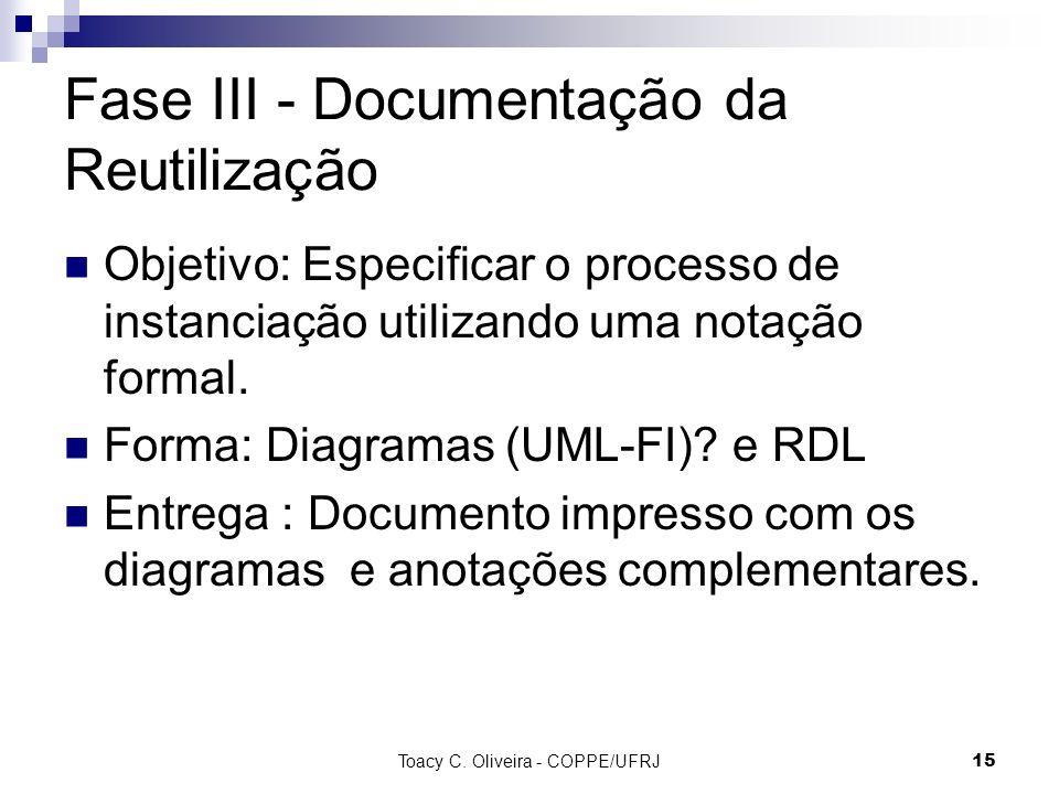 Fase III - Documentação da Reutilização