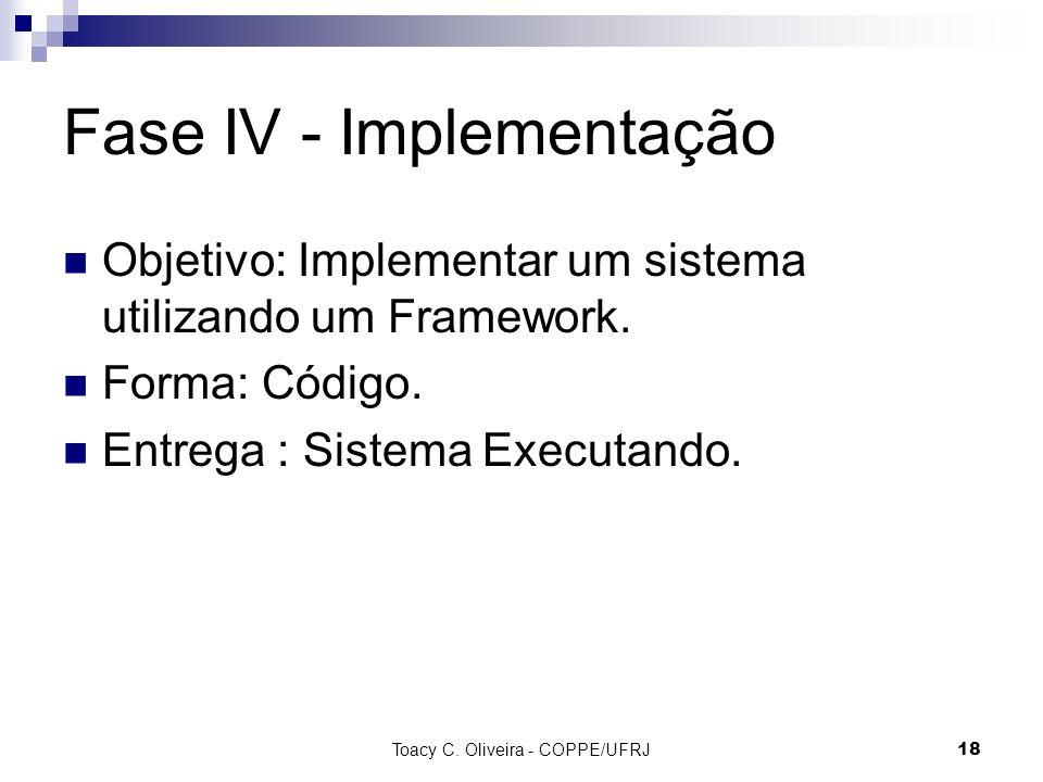 Fase IV - Implementação