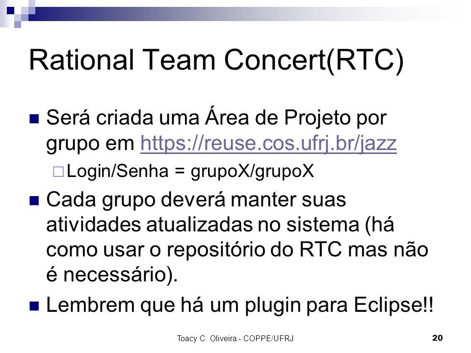 Rational Team Concert(RTC)